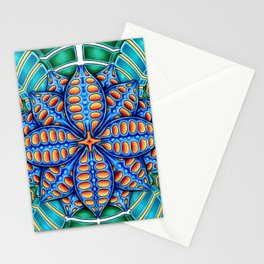 Trippy Flower Design Stationery Cards