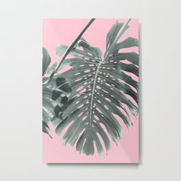 Monstera Finesse #1 #tropical #decor #art #society6 Metal Print