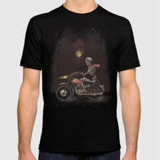 Death Rides in the Night Black Mens Fitted Tee MEDIUM