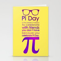 pi Stationery Cards featuring Pi Day by Square Lemon