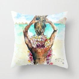 Bora Bora Lei Throw Pillow