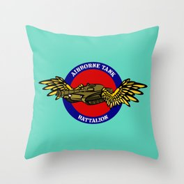 Tank with Wings Throw Pillow