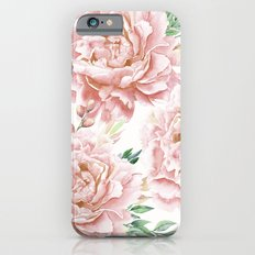Pretty Coral Pink Rose Meadow iPhone 6s Slim Case