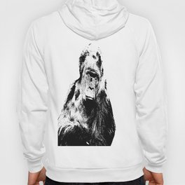 Gorilla In A Pensive Mood Portrait #decor #society6 Hoody