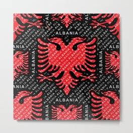 Albanian flag pattern 5 Metal Print