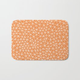 Connectivity - White on Orange Bath Mat
