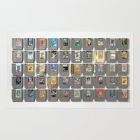 castlevania Area & Throw Rugs featuring 50 Nintendo Games by Jason Travis