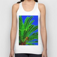 palm tree Tank Tops featuring Palm Tree by Phil Smyth