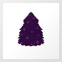 Bushy Christmas tree Art Print