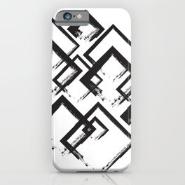 abstract geometry rectangles iPhone Case