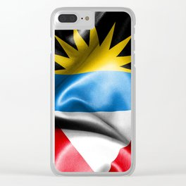 Antigua and Barbuda Flag Clear iPhone Case