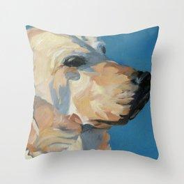 Mandy the Golden Labrador Throw Pillow