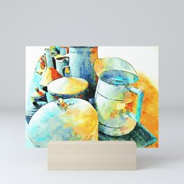 Copper jars and jugs in the bergamot museum of Reggio Calabria Mini Art Print