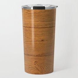 The Cabin Vintage Wood Grain Design Travel Mug