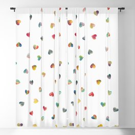 Happy Hearts Blackout Curtain
