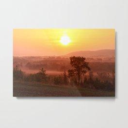 Valley Sunrise Art Decor. Metal Print