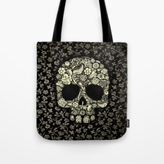 Sugar Skull flower pattern iPhone 4 4s 5 5s 5c, ipod, ipad, pillow case and tshirt Tote Bag