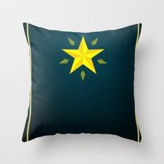 Gold Star/ Blue Throw Pillow