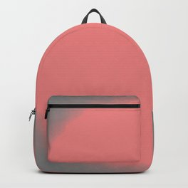 Pink and Grey Fuzzy Dot Backpack