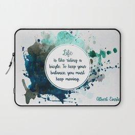 Albert Einstein's quote Laptop Sleeve