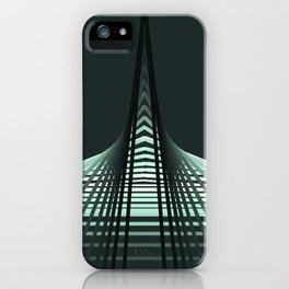 Trippy geometry #abstract #minimal #lineart iPhone Case