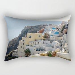 Grece Santorini Oia Village | Ville Oia Rectangular Pillow