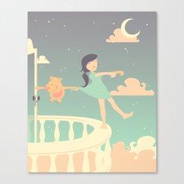 Sleepwalking Girl Canvas Print