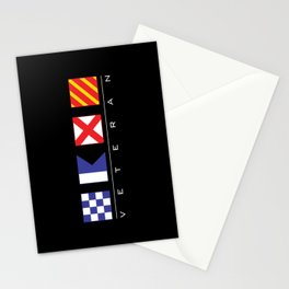 N - A - V - Y Veteran Signal Flags Stationery Cards
