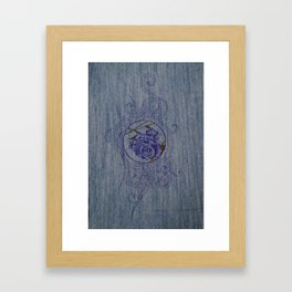 Blue Rose Framed Art Print