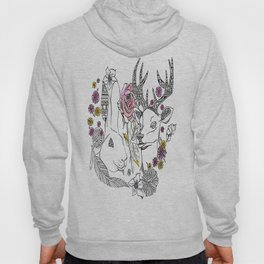the hare and deer  Hoody