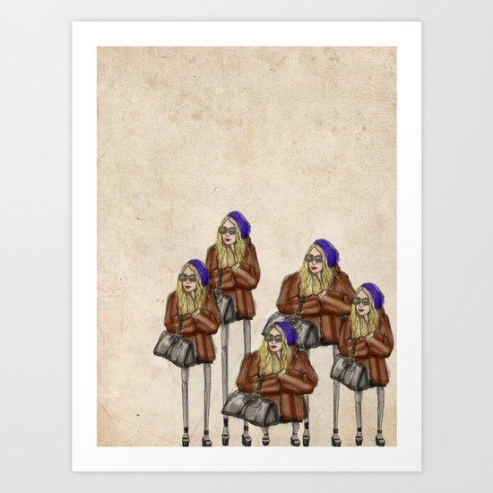 Mary-Kate Olsen Art Print