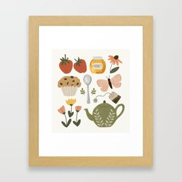 Afternoon Tea in the Garden Pattern Framed Art Print