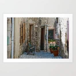The Streets of Minerve - France Art Print