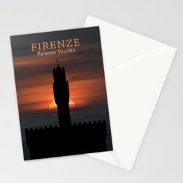 Graphic Silhouette Florence Poster Stationery Cards