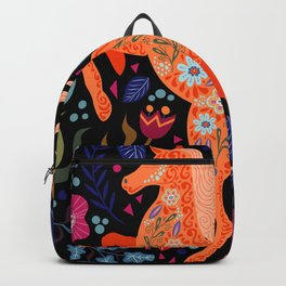colorful doodle horse Backpack