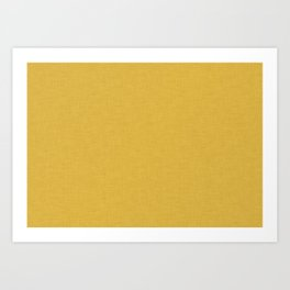 Plain yellow #homedecor Art Print