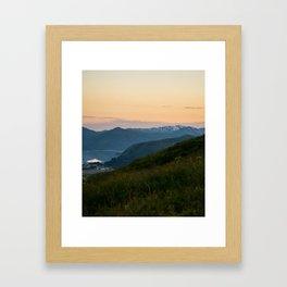 Island Mountaintop Zoomed Framed Art Print