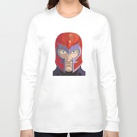 magneto Long Sleeve T-shirts featuring Magneto by Jconner