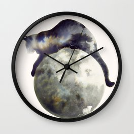 Lunar Hunter Wall Clock