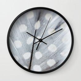 Polka Dot Feather Wall Clock