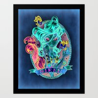 alone Art Prints featuring SIREN by Tim Shumate