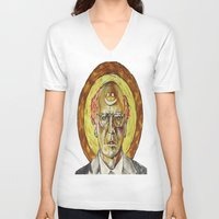 larry V-neck T-shirts featuring Larry David by Carson Kaiser