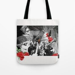 Rivets are Red Tote Bag