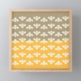 Busy Bees Framed Mini Art Print