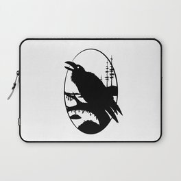Raven Silhouette IV Laptop Sleeve