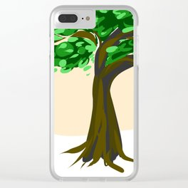 Simple tree Clear iPhone Case