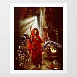 red sorceress Art Print
