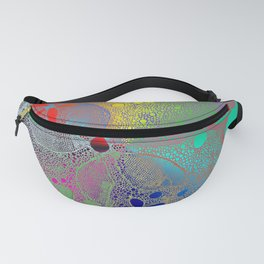 Flowers In Lace Rainbow Fanny Pack