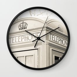 London telephone booth Wall Clock