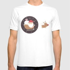Merry Christmas! SMALL Mens Fitted Tee White